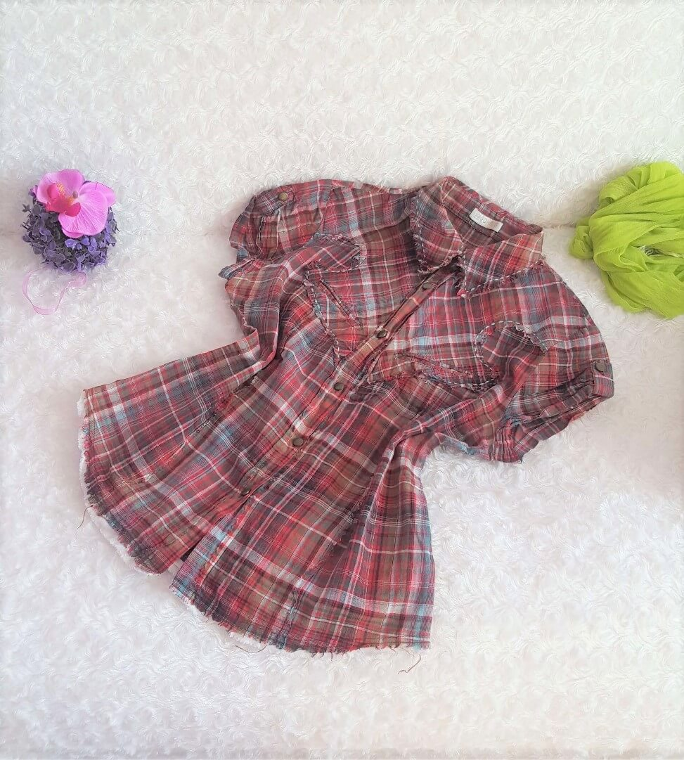 2d64c899ec54 ... košeľa-blúzka veľ. S. 🔍. damska cervena bluzka