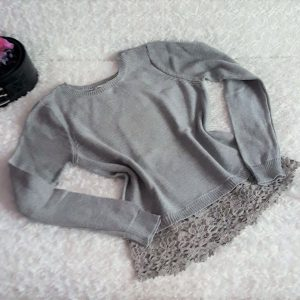 damsky sivy sveter
